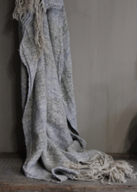 Hoffz plaid linnen/oud blauw