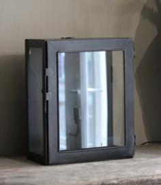 Wandlamp zwart/staal kleur
