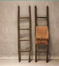 Houten ladder met vintage finish