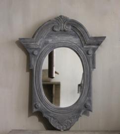 Ossenoog spiegel grijs