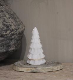 Kerstboom kaars mini cool grey
