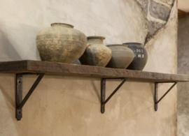 Oude vergrijsde wandplank 140 cm