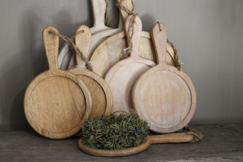 Houten chopping board naturel groot