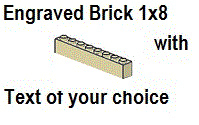 Custom Engrave Brick 1 x 8 Tan