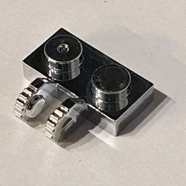 Hinge Plate 1 x 2 Locking with 1 Finger on Side