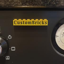 Custom Engrave Brick 1 x 8 Lavender