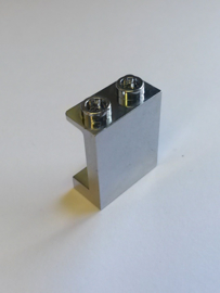 Panel 1 x 2 x 2 with Side Supports - Hollow Studs