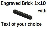 Custom Engrave Brick 1 x 10 Black