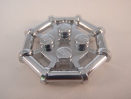 Plate, Modified 2 x 2 with Bar Frame Octagonal
