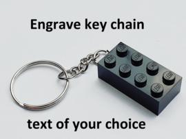 Black Brick 2 x 4 Key Chain