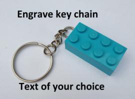 Medium Azure 2 x 4 key chain