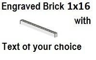 Custom Engrave Brick 1 x 16 White