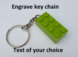 Lime Brick 2 x 4 key chain