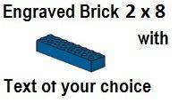 Custom Engrave Brick 2 x 8 Blue