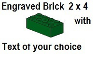 Custom Engrave Brick 2 x 4 Green
