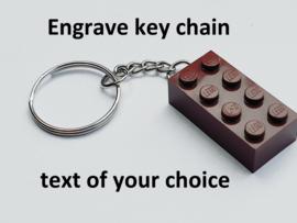 Brown Brick 2 x 4 Key ChainT
