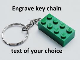 Green Brick 2 x 4 Key Chain