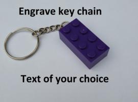 Dark Purple Brick 2 x 4 Key Chain