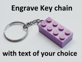 Lavender Brick 2 x 4 Key Chain