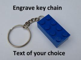 Blue Brick 2 x 4 key chain
