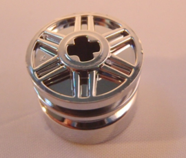Wheel 18mm D. x 14mm with Axle Hole, Fake Bolts and Shallow Spokes