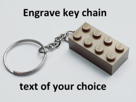 Dark Tan Brick 2 x 4 Key Chain