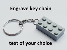 Light Bluish Gray Brick 2 x 4 Key Chain