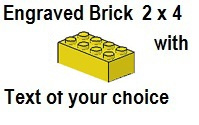 Custom Engrave Brick 2 x 4 Yellow