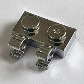 Plate, Modified 1 x 2 with 2 U Clips (Horizontal Grip)