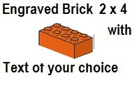 Custom Engrave Brick 2 x 4 Orange