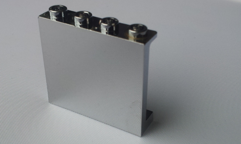 Panel 1 x 4 x 3 with Side Supports - Hollow Studs