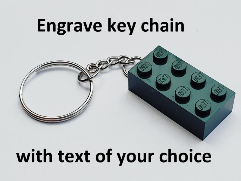 Dark Green Brick 2 x 4 Key Chain