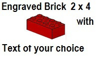 Custom Engrave Brick 2 x 4 Red