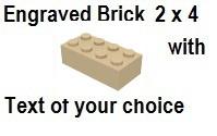 Custom Engrave Brick 2 x 4 Tan