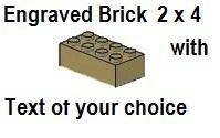 Custom Engrave Brick 2 x 4 Dark Tan