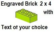 Custom Engrave Brick 2 x 4 Lime