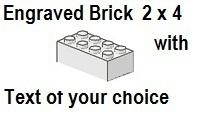Custom Engrave Brick 2 x 4 White