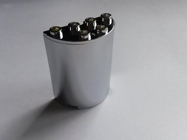 Cylinder Half 2 x 4 x 4