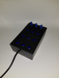 PC or PS4 USB button Box 12 functions back lit blue sim racing