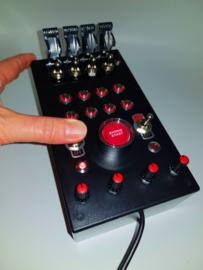 PC  or PS4 USB 27 function push Button Box Red back lit simracing & flight simulators