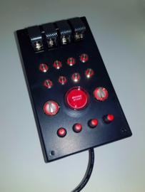 PC or PS4 USB button Box 29 functions back lit Red sim racing & Flight simulators