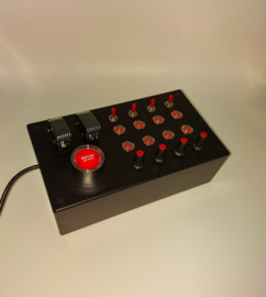 PC or Ps4 USB Box 31 functions back lit RED push buttons+ toggles+ encoders sim racing