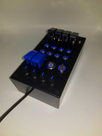 PC or PS4 USB button Box 29 functions back lit Blue sim racing
