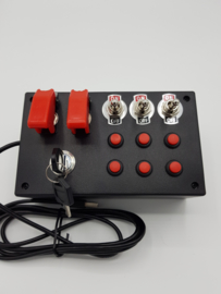 PC USB Button Box 12 functions red buttons & ignition Key for Truck simulation