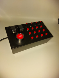 PC or Ps4 USB 27 function Red push Buttons + encoders Box for sim racing and flight simulation