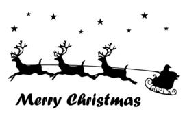 Raamsticker kerstman (statisch)