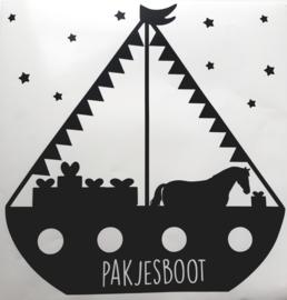 Stoomboot raamsticker (statisch)
