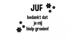 Gieter/bloempot sticker DIY