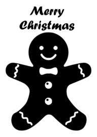 Raamsticker gingerbread man (statisch)