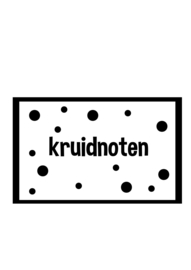 DIY sticker kruidnoten